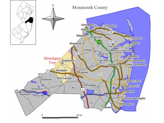 Manalapan locator map