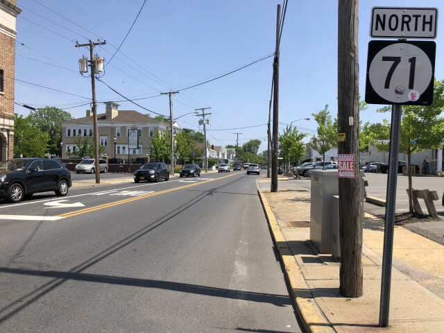 2018-05-25 11 29 25 View north along New Jersey State Route 71 'Taylor Avenue' at Main Street in Manasquan  Monmouth County  New Jersey image