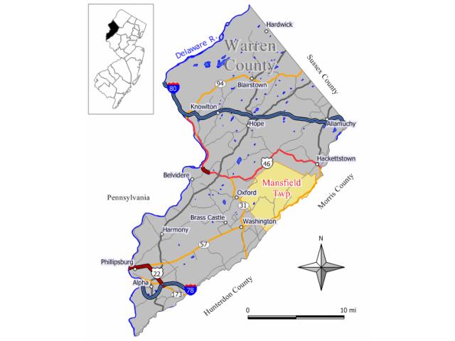 Mansfield location map