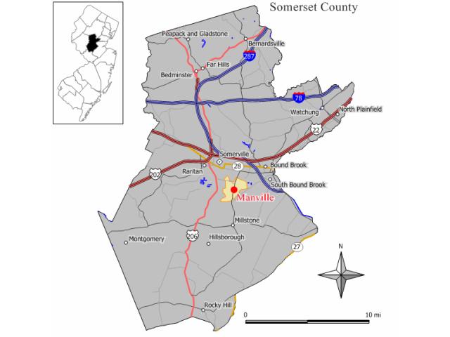 Manville locator map
