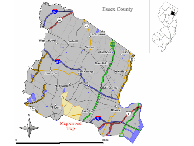 Maplewood location map