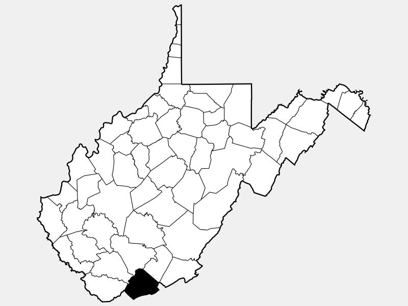 Mercer County, NJ locator map