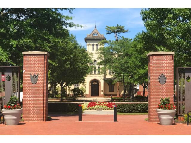 Bishop House  New Brunswick  NJ - campus gate image
