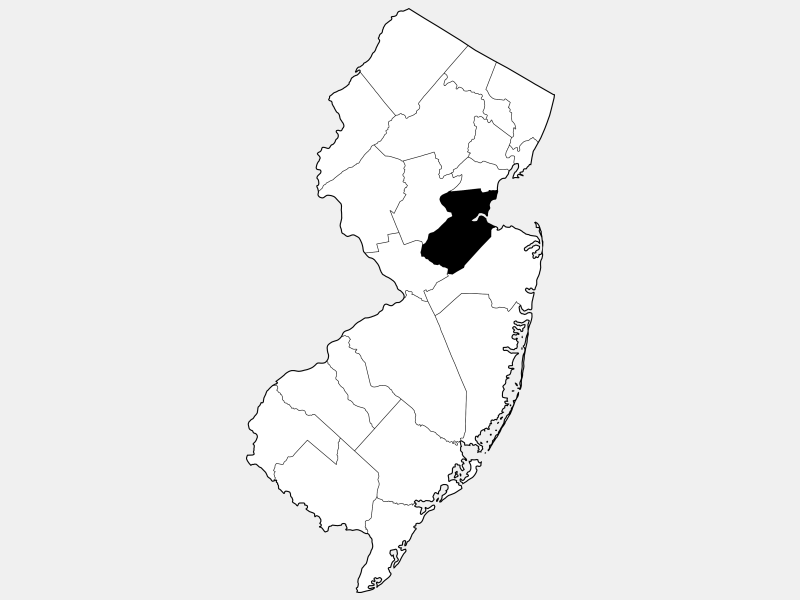 Middlesex County locator map