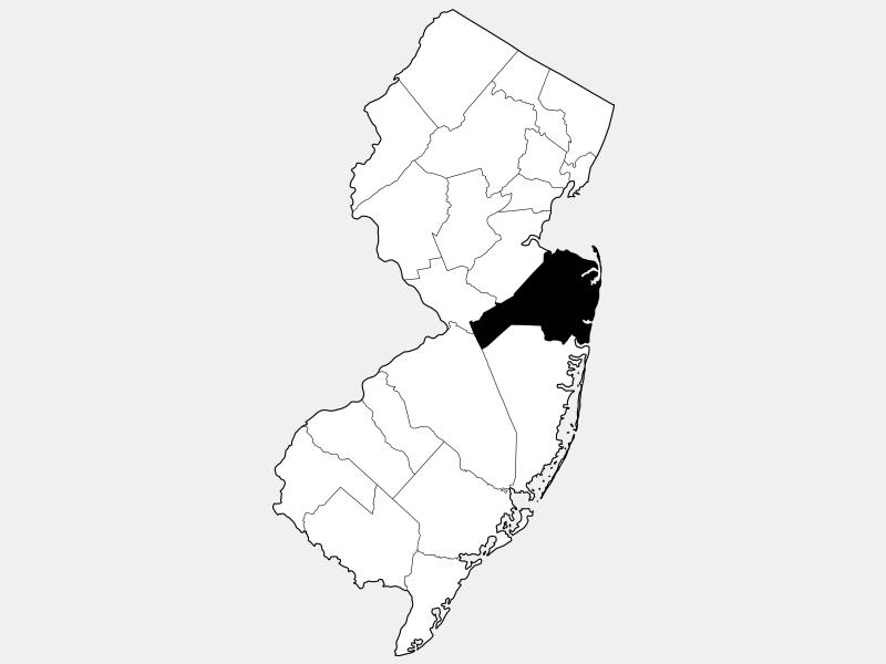 Monmouth County, NJ locator map