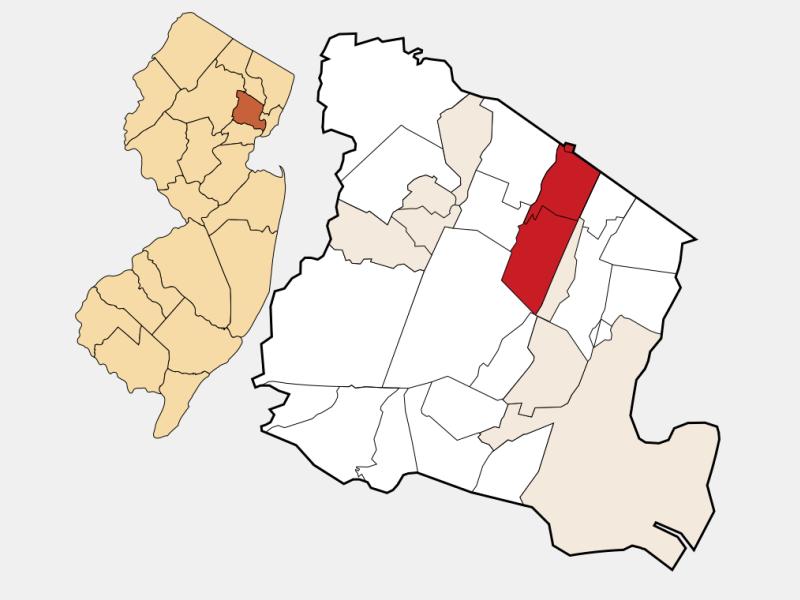 Montclair locator map