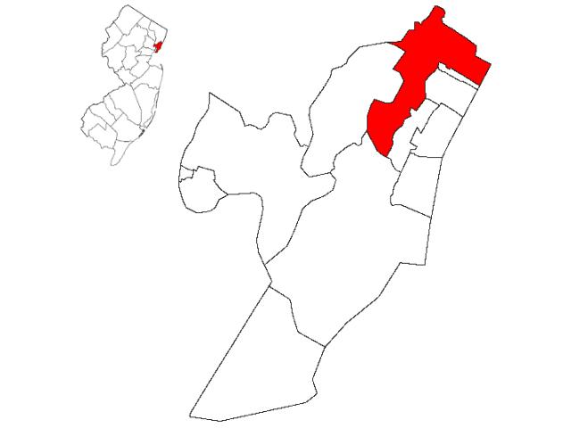 North Bergen locator map