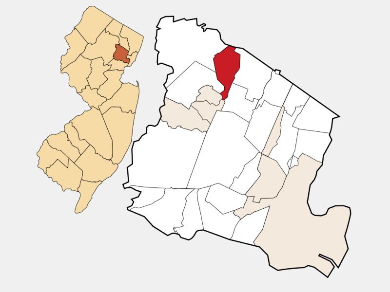 North Caldwell locator map
