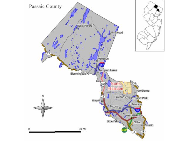 North Haledon locator map