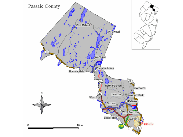 Passaic locator map