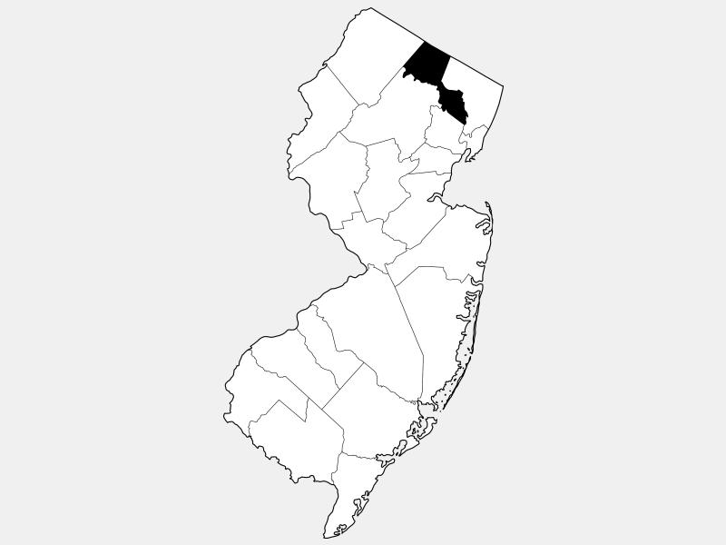 Passaic County locator map