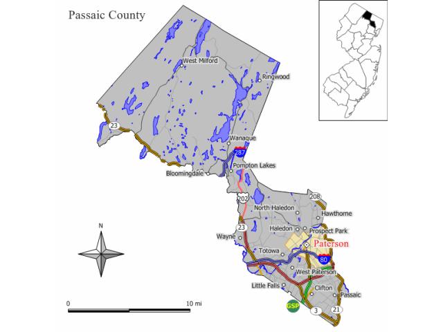 Paterson, NJ locator map