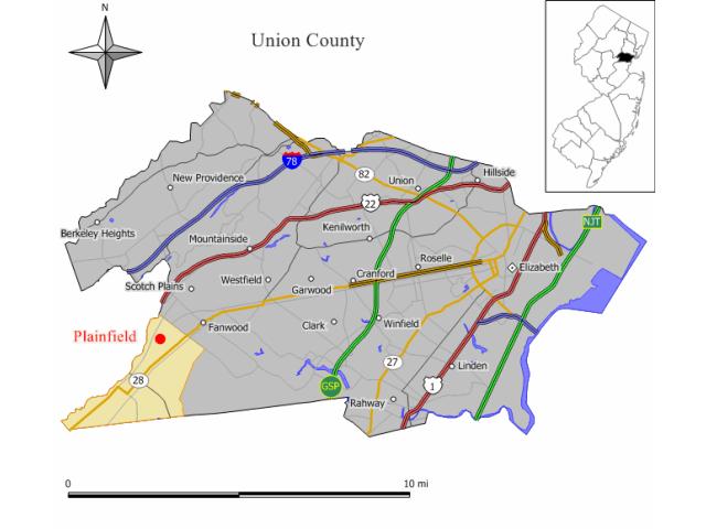 Plainfield location map