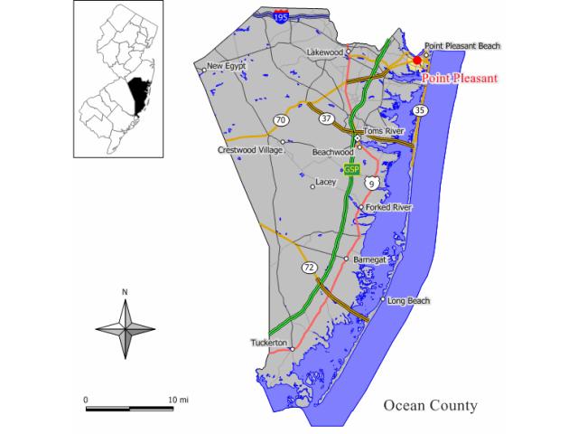 Point Pleasant locator map