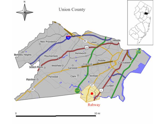 Rahway locator map