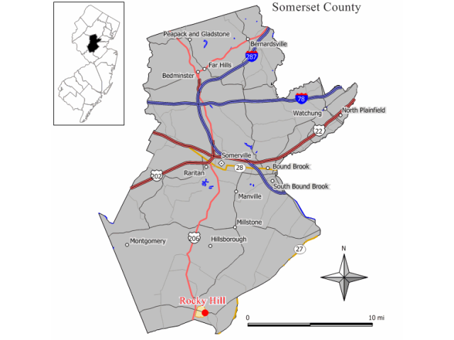 Rocky Hill locator map