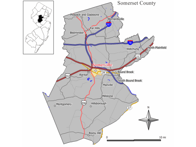 Somerville locator map
