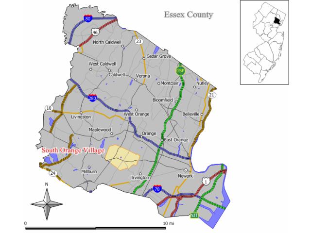 South Orange locator map