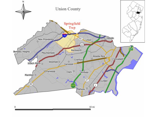 Springfield locator map