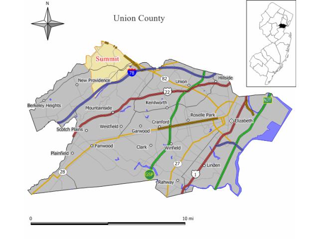 Summit locator map