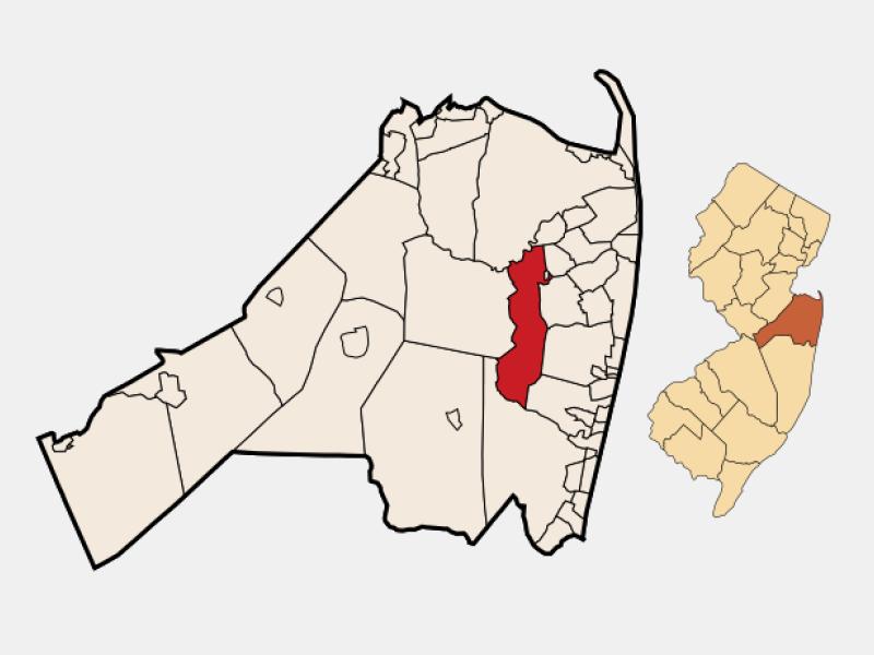 Tinton Falls locator map