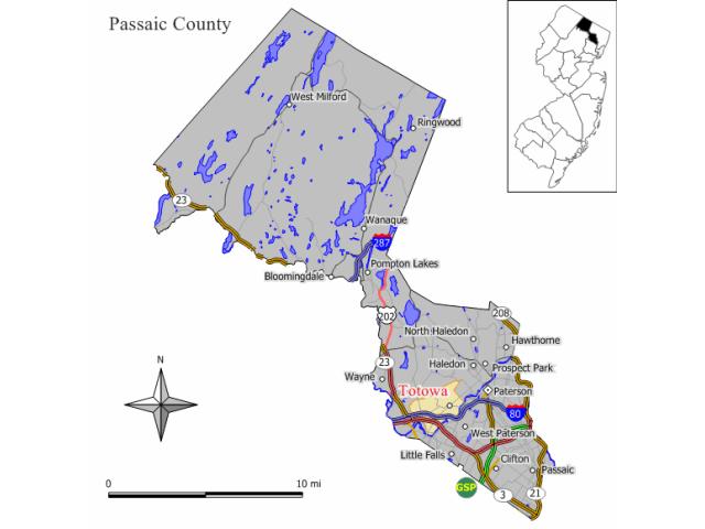 Totowa locator map