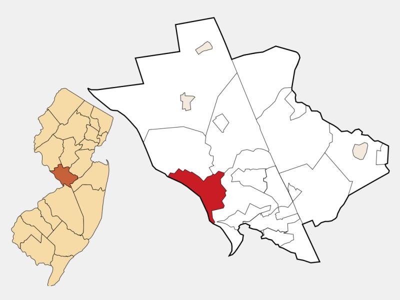 Trenton, NJ locator map