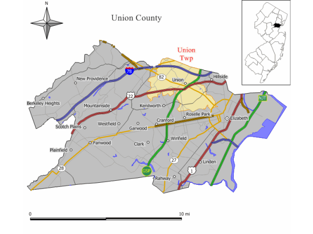 Union locator map