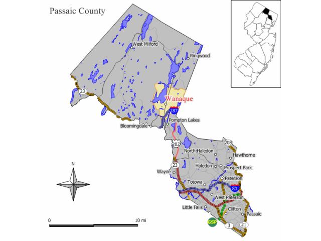 Wanaque locator map