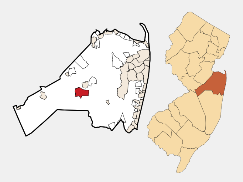 West Freehold locator map