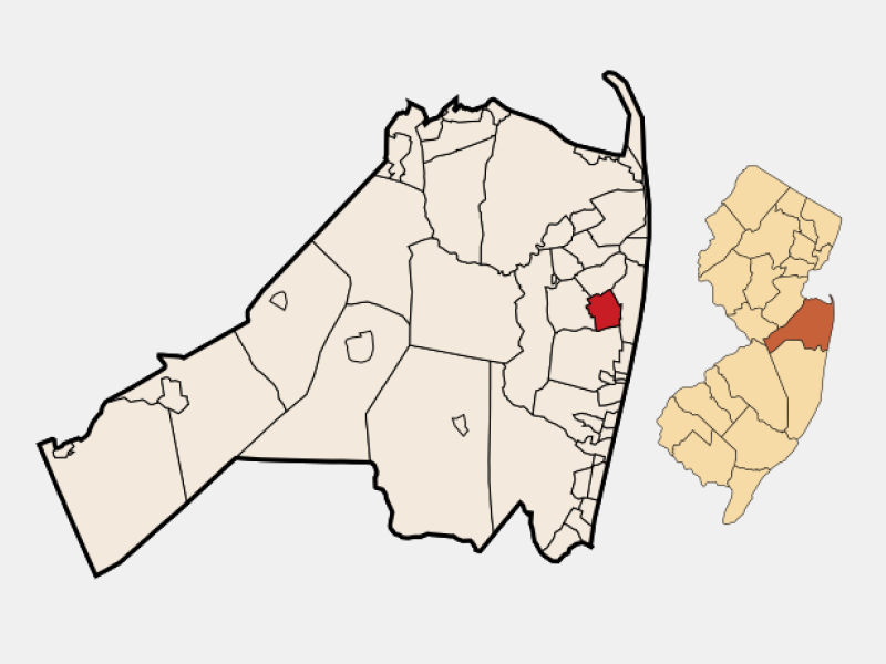 West Long Branch locator map