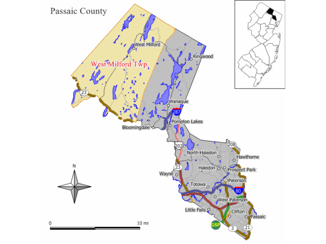 West Milford locator map