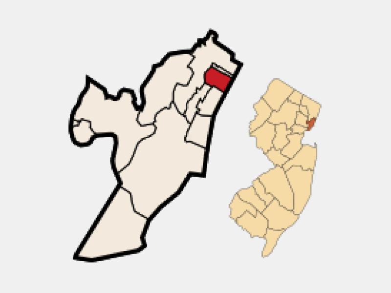 West New York locator map
