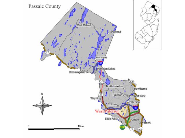 Woodland Park locator map