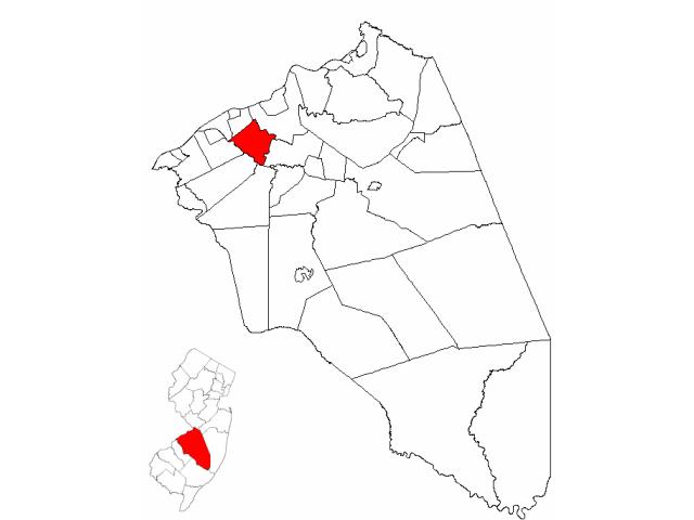 Willingboro locator map