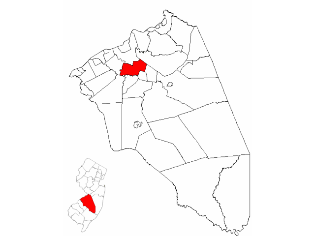 Westampton locator map
