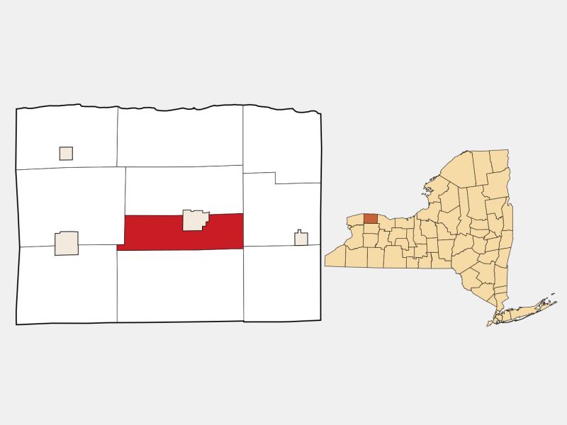 Albion locator map