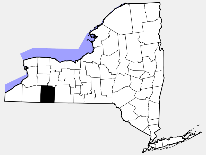 Allegany County locator map