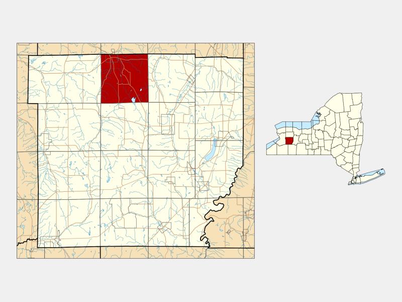 Attica locator map