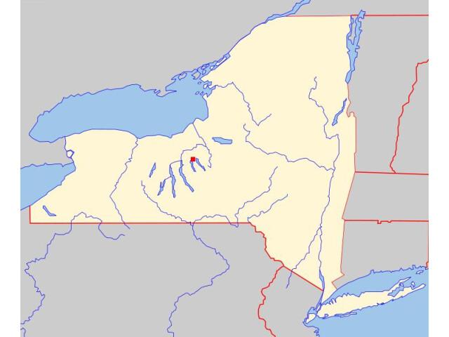 Auburn, NY locator map