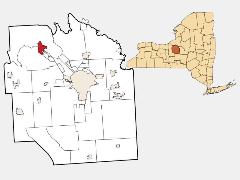 Baldwinsville locator map