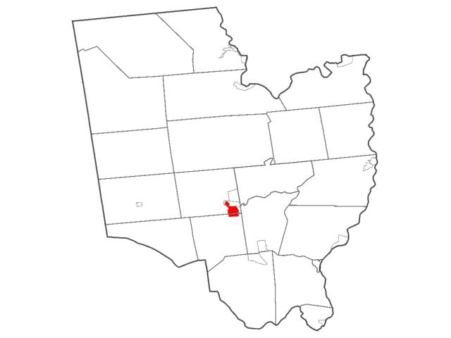 Ballston Spa location map