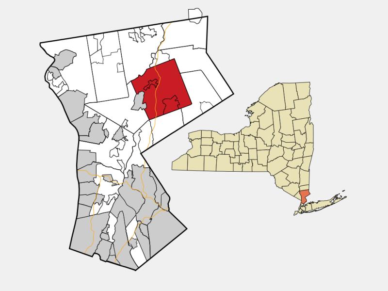 Bedford, NY locator map