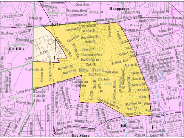 Brentwood locator map