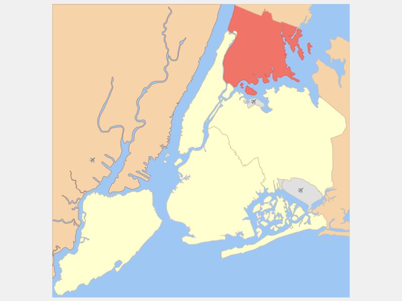 The Bronx locator map