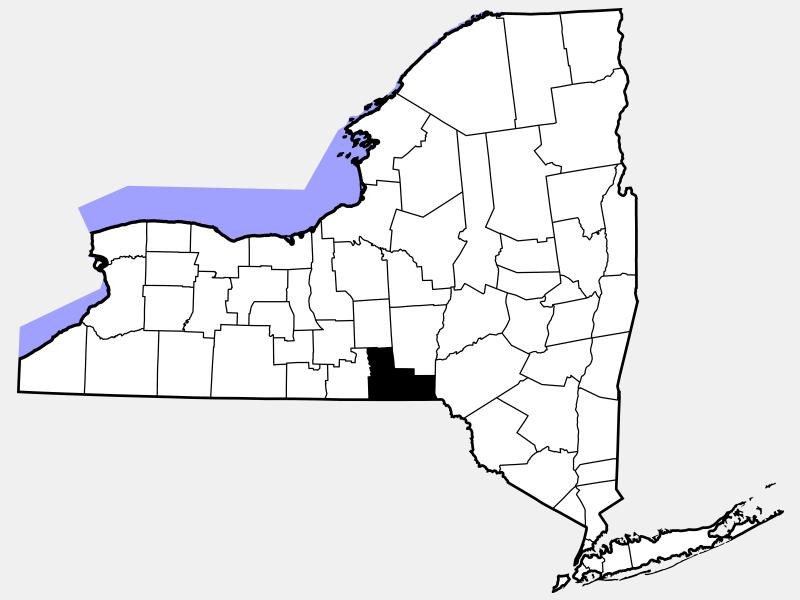 Broome County locator map