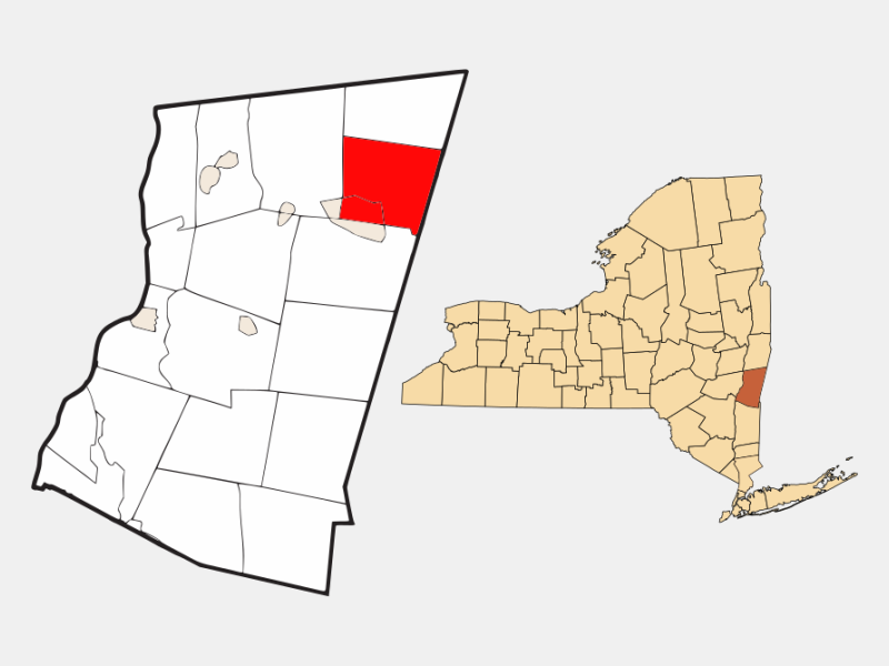 Canaan locator map