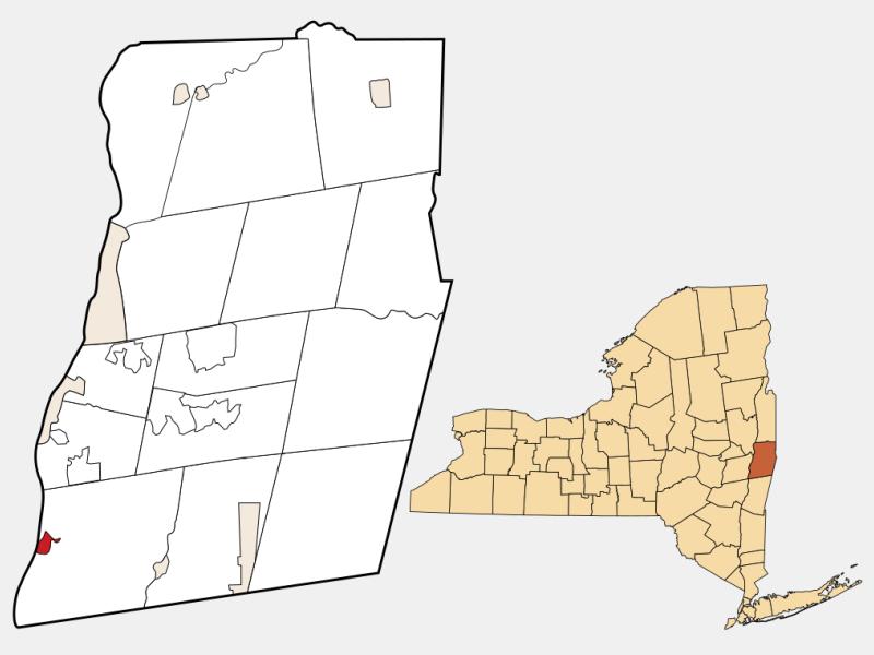 Castleton-on-Hudson locator map
