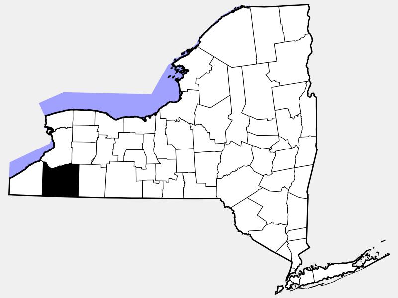 Cattaraugus County locator map