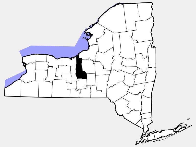 Cayuga County, NY locator map